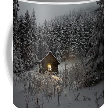 Cabin In Winter - Mug