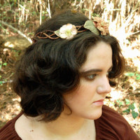 Brown and Gold Braided Fairy Circlet