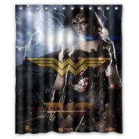 Wonder Woman Movie Galgadot Shower Curtain Size 60x72 Inch