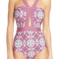 Laundry by Shelli Segal Mayan Escape Cutout One-Piece Swimsuit   Nordstrom