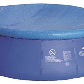 By PoolCentral 18.4' Durable Apertured Round Blue Swimming Pool Cover with Rope Ties