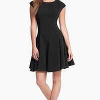 Eliza J Ponte Knit Skater Dress (Regular & Petite) | Nordstrom