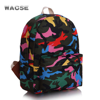 Casual Stylish Camouflage Korean Fashion Backpack = 4887856388