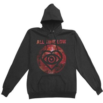 All Time Low Women's  Winter Flowers Girls Jr Hooded Sweatshirt Black