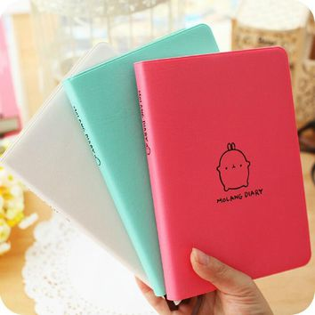 Korean Molang Rabbit Cute Diary Weekly Monthly Planner Pocket Journal Kawaii Notebook Agenda 2017 2018 Scheduler Calendar A6