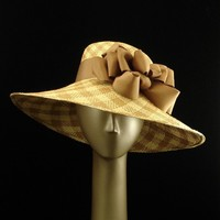 Wide Brim Hat for Women Panama Straw Hat in by TheMillineryShop