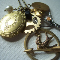 The Hungers Games deluxe charm necklace new design by 1luckysoul