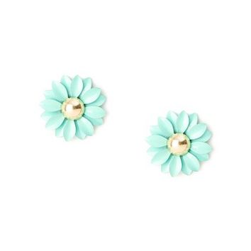 Metal Daisy Stud Earrings | Claire's