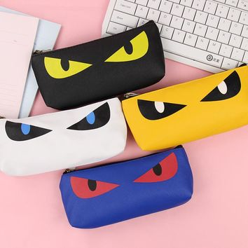Cat Eye Waterproof Leather Pencil Case