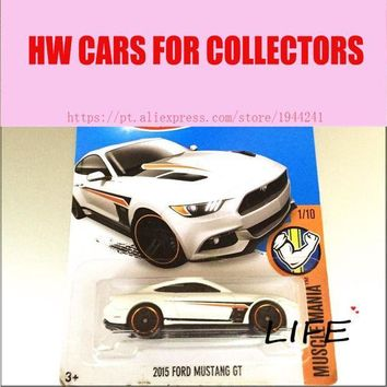 CREYLD1 Hot 1:64 Cars wheels 2015 whtie mustang gt Car Models Metal Diecast Cars Collection Kids Toys Vehicle For Children Juguetes