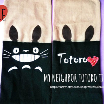 SALE Amazing Totoro Knee High Hosiery Pantyhose Tattoo Socks Leggings Tights Stockings Women Kawaii
