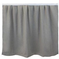 University Line Bed Skirt Panel-Textured Gray