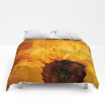 Sunshine On My Shoulder Comforters by Theresa Campbell D'August Art