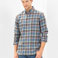 Gap Men Lightweight Twill Justin Plaid Shirt
