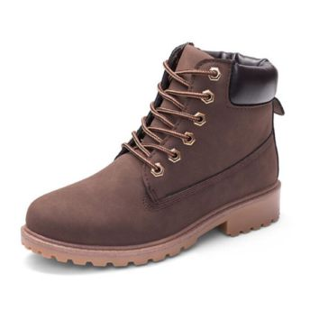 Fashion trending boots for women shoes waterproof Martin boots Coffee