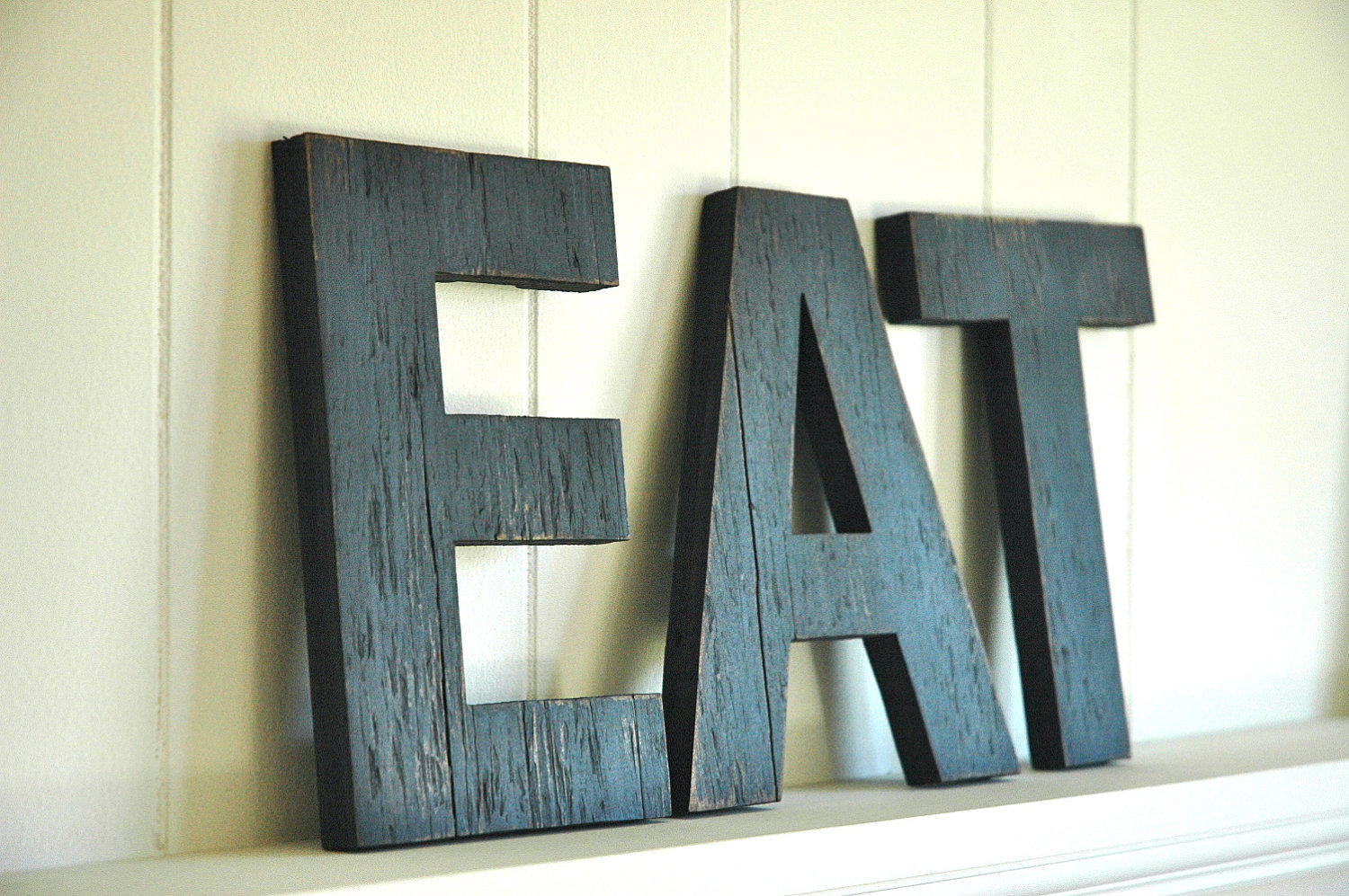 eat wall art large letters handmade wood from shophomegrown on. Black Bedroom Furniture Sets. Home Design Ideas