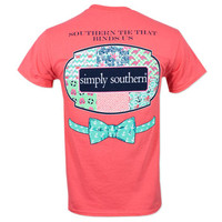 Simply Southern Sea Patch T-Shirt - Coral
