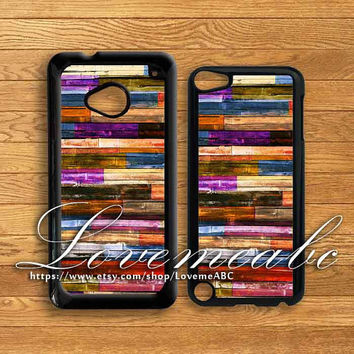 colorful wood,ipod 5 case,htc one,iphone 5C,iphone 5 case,iphone 4,iphone 4S,ipod4 case,iphone 5S case,Blackberry Z10 case,Q10,ipod case