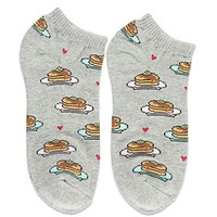 Pancake Graphic Ankle Socks