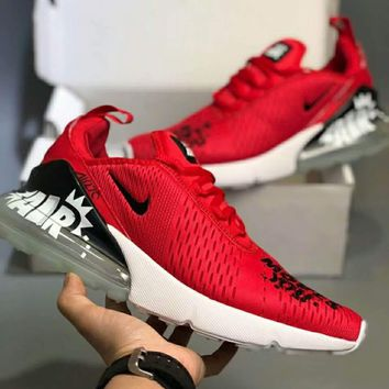 Nike AIR MAX FLYKNIT 270 Fashion Doodle Summer Cushion F-CSXY red