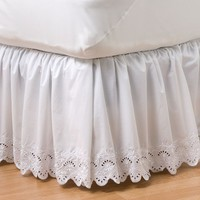 Home Classics Eyelet Bedskirt - Queen (White)