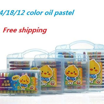 Oil Pastel Drawing Set 36/24/18/12 Colors Water Soluble Crayons for Kids Art School Supplies Stationery 1 Set
