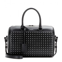 saint laurent - duffle 6 studded leather bowling bag