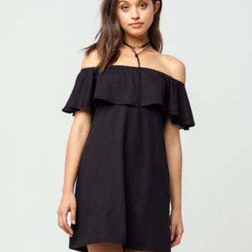 FULL TILT Off The Shoulder Ruffle Dress