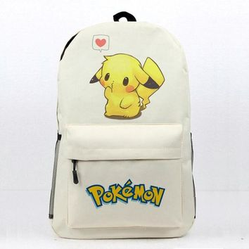 Anime  School Book Bag Daily Backpack  Pikachu Printing Travel Knapsack Teens Boys Girls Students Laptop BagKawaii Pokemon go  AT_89_9