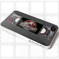 Jurassic Park Videos Casette - iPhone Case 4/4S, 5/5S, 5C and Samsung Galaxy S3, S4 Case.