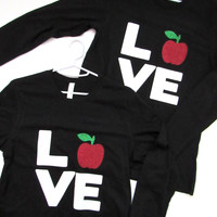SALE -LONG SLEEVE TEACHER SHIRT  - Ruffles with Love - Long Sleeve Shirt - Womens Fitness - Workout Clothing - Workout Shirts with Sayings