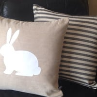 Free Shipping, Easter Home Decor, Easter Decorative Pillow Covers, Rabbit pillows, Rabbit Pillows,