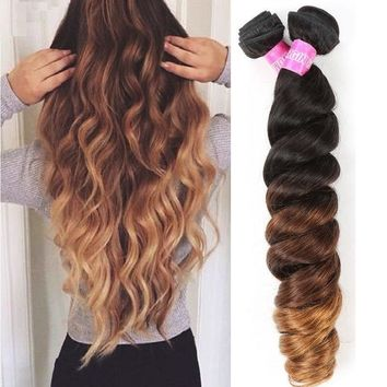 4 Bundles Ombre Loose Wave Virgin Peruvian Hair
