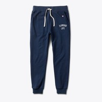 Diamond Arch Sweatpants in Navy - PANTS - BOTTOMS
