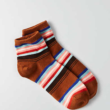 AEO Striped Ankle Socks, Rust