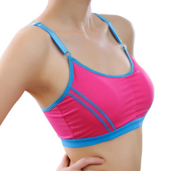 Sexy Women Stretch Bra Lady Casual Sports Bras Seamless Breathable Push Up Fitness Bras Leisure