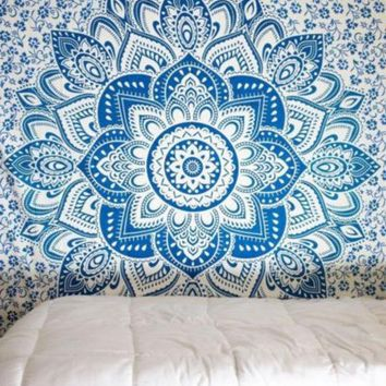 ac VLXC On Sale Bedroom Comfortable Hot Deal Home Bohemia Style Beach Scarf Decoration Bed Sheet [10014501132]