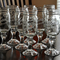 Redneck Wine Glasses Southern Iced Tea Glasses Set of 8