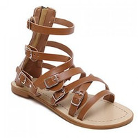 Casual Cross Straps and Buckles Design Sandals For Women