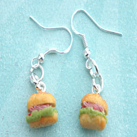 Sub Sandwich Dangle Earrings