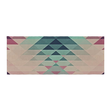 "Nika Martinez ""Hipster"" Maroon Teal Bed Runner"