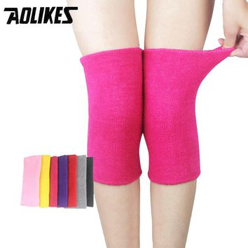 1 pair Knee Support Brace Leg Arthritis Injury Gym Sleeve Elasticated Bandage Pad Warm Elbow & Knee Pads for Winter