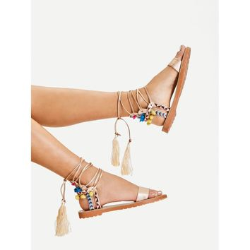 Lace Up Criss Cross Gladiator Sandals