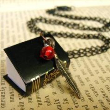 Secret mini notebook necklace Shipping included by AlinaandT