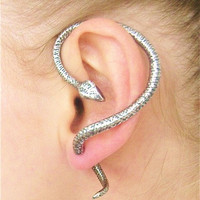 Edgy Goth Venomous 'Serpent of Eden' Snake Ear Cuff