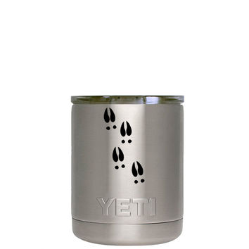 YETI 10 oz LowBall Deer tracks Laser Etched