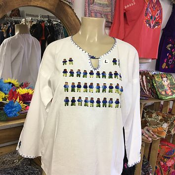 Muñequitos Mexican Long Sleeve Blouse