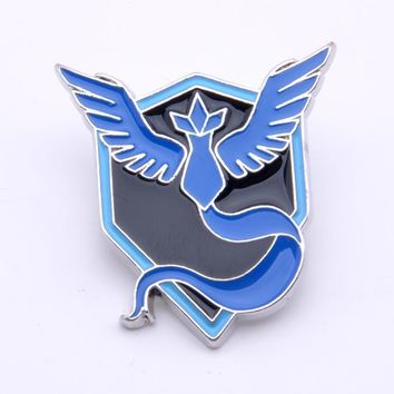 pokemon Go Team Mystic Pin Metal Badge Brooth 1pcs Cosplay Halloween