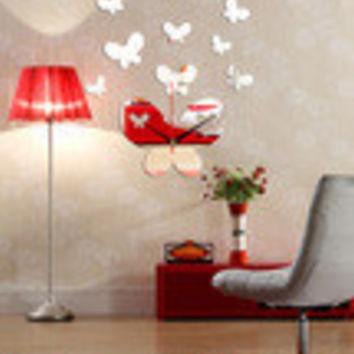 Hot Sale Stylish Strong Character Decoration Butterfly Clock [4918604676]
