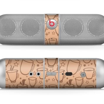 The Vintage Vector Coffee Mugs Skin for the Beats by Dre Pill Bluetooth Speaker